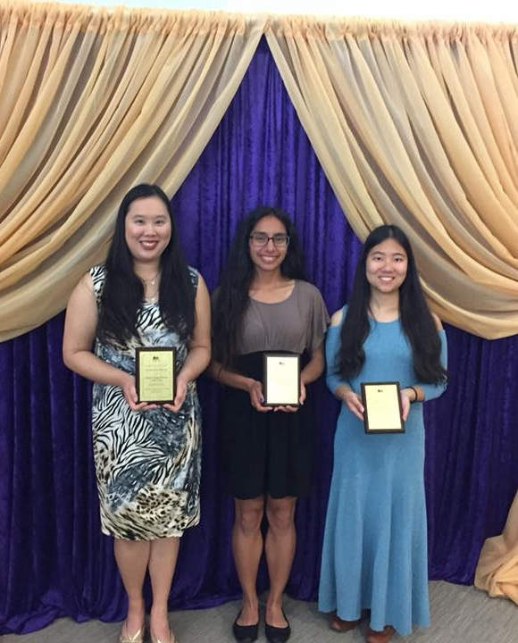 Left to right: Christina Fong, Julissa Tobias, Justina Chock