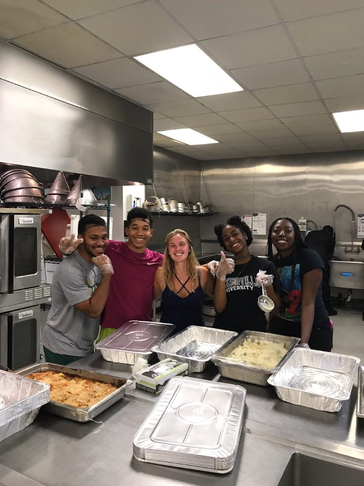 Celebrating their food recovery accomplishments at Jacksonville University