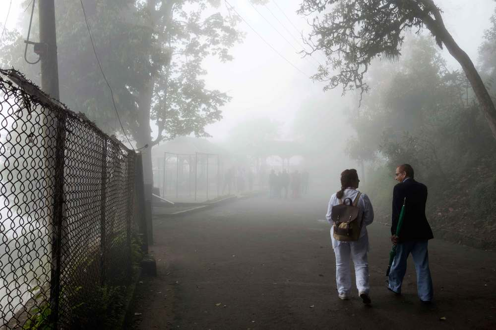 Misty morning walk. (Shabnam and Nalin)