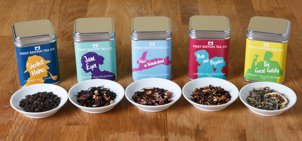 Our first 5 blends: The Literary Tea Collection