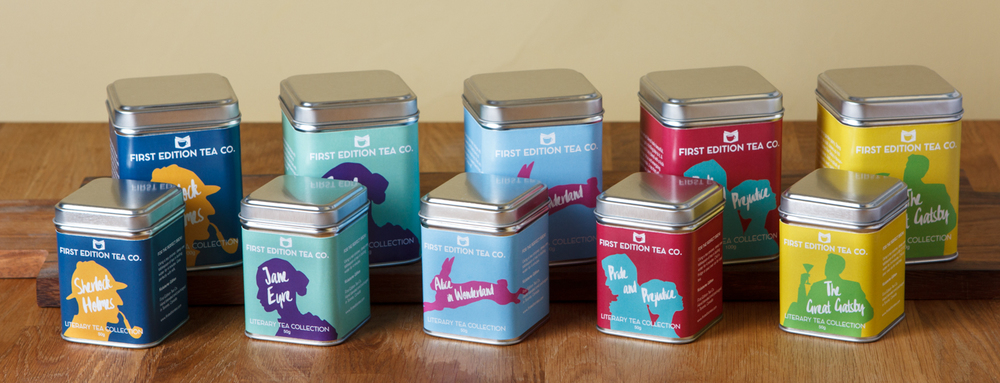 Our first five blends: The Literary Tea Collection.