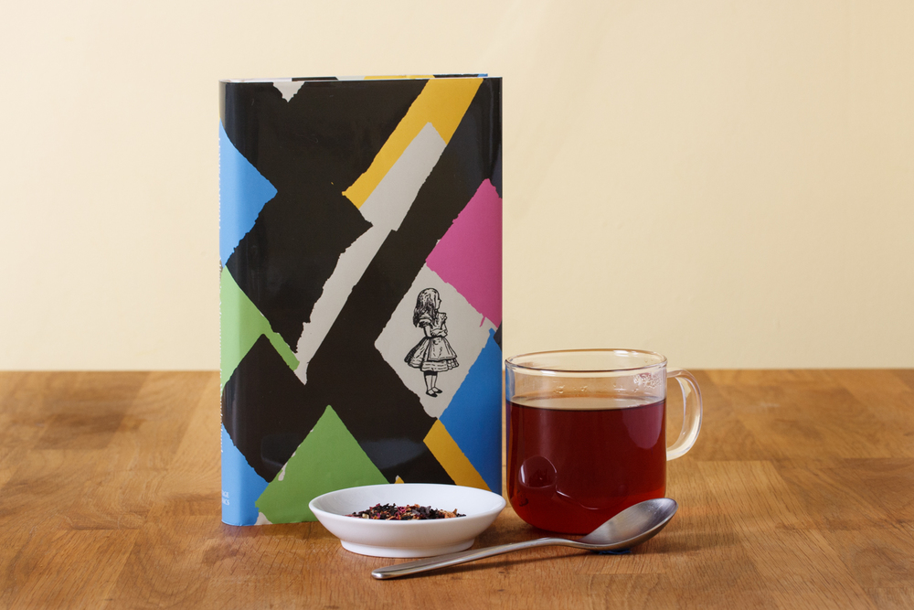 Our Alice in Wonderland blend with the book that inspired it.