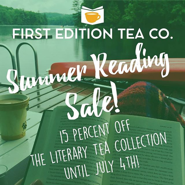 Summer is for reading, so we're kicking it off with a sale! From now until July 4th get 15% off the entire Literary Tea Collection in the Etsy store. Link in the bio! #tea #sale #etsy #etsysale #bookstagram #bibliophile