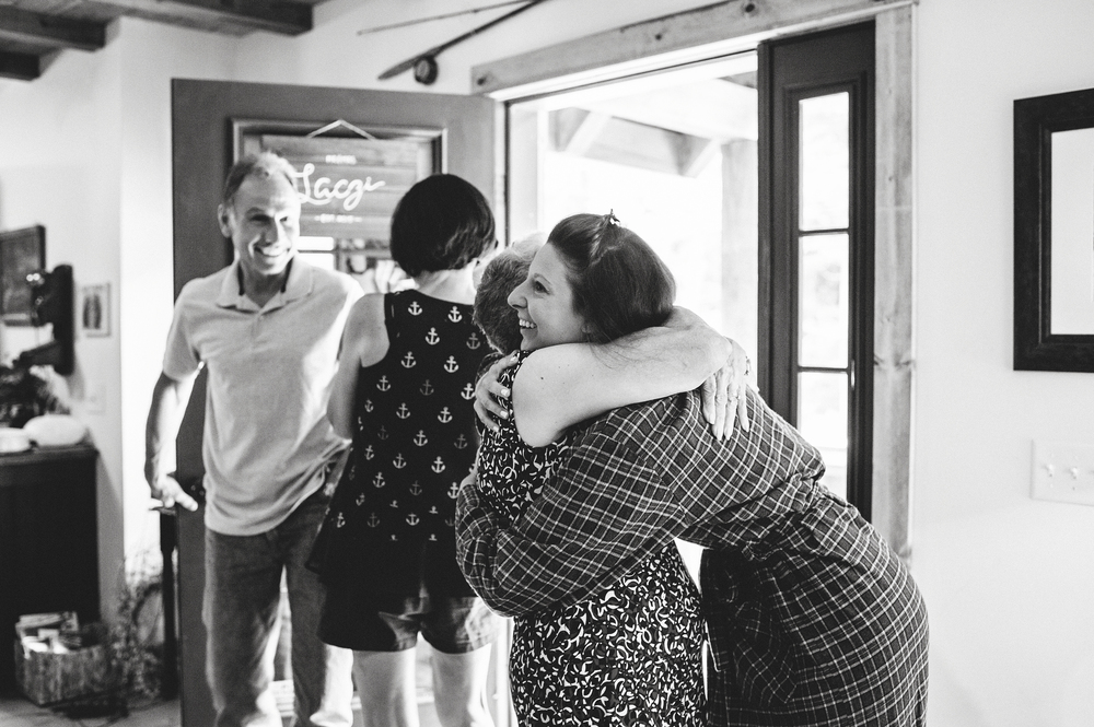 grandmother and granddaughter hug