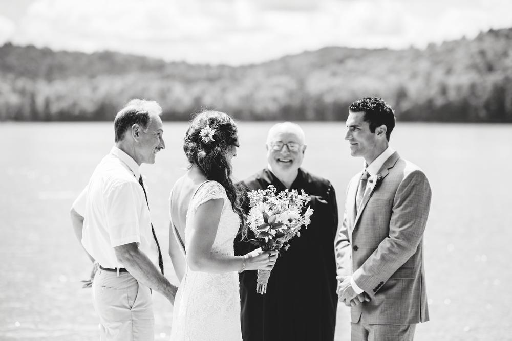 father giving daughter away adirondack wedding