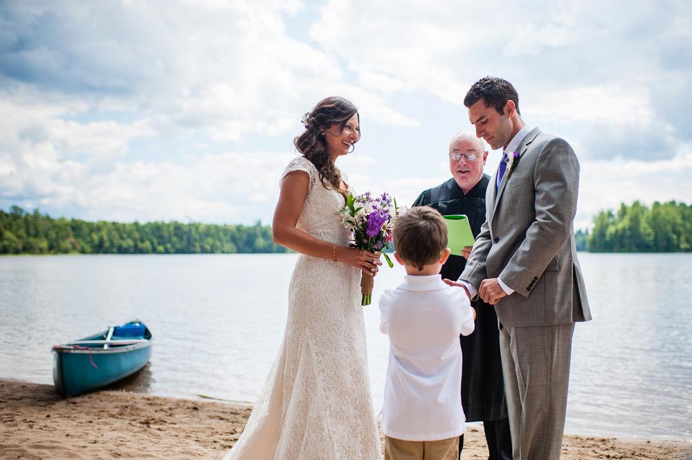 ring bearer adirondack wedding brown tract pond