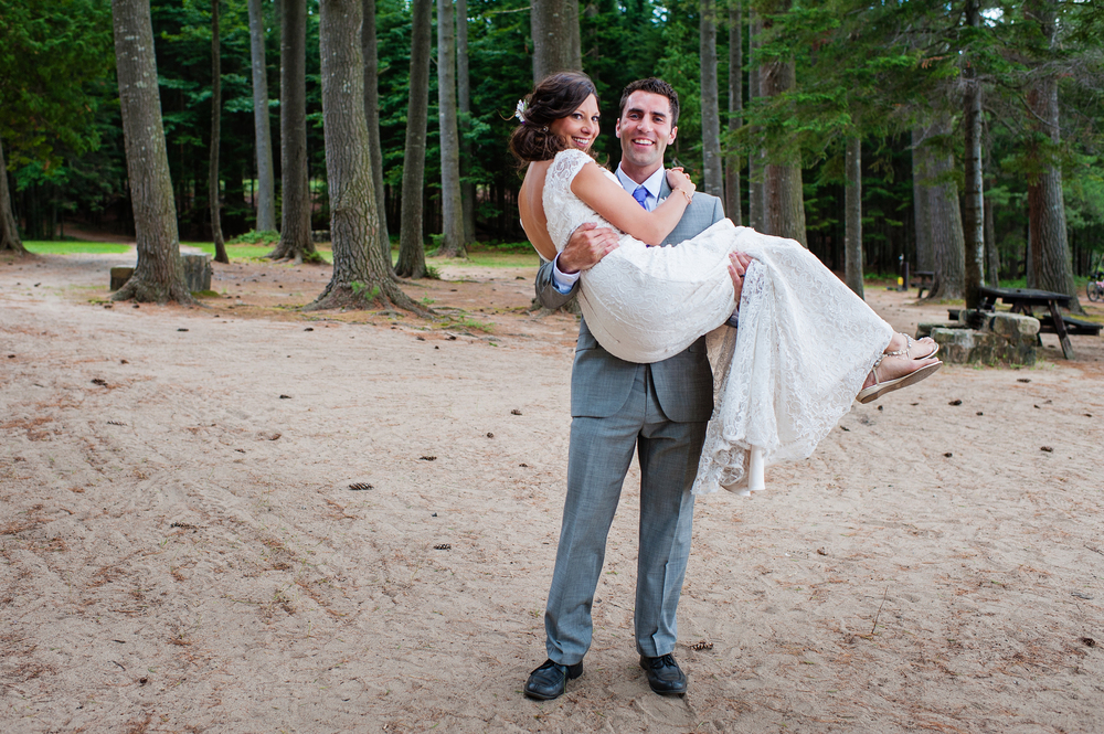 Adirondack Wedding Bride and Groom