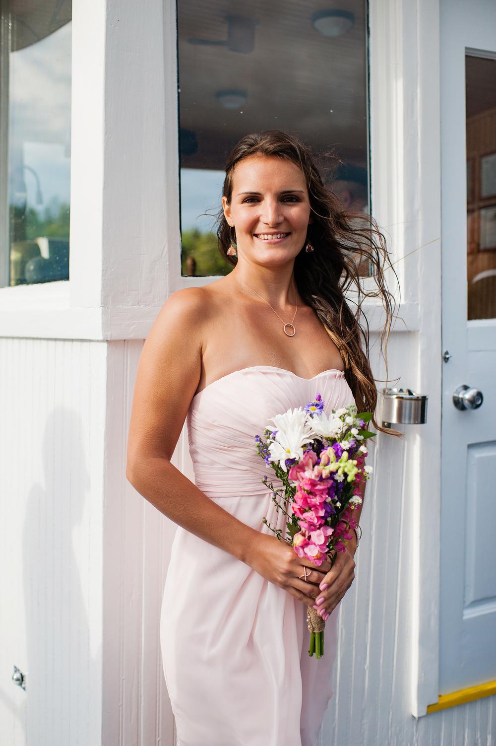 Sister of the Groom Raquette Lake Navigation Adirondack Wedding