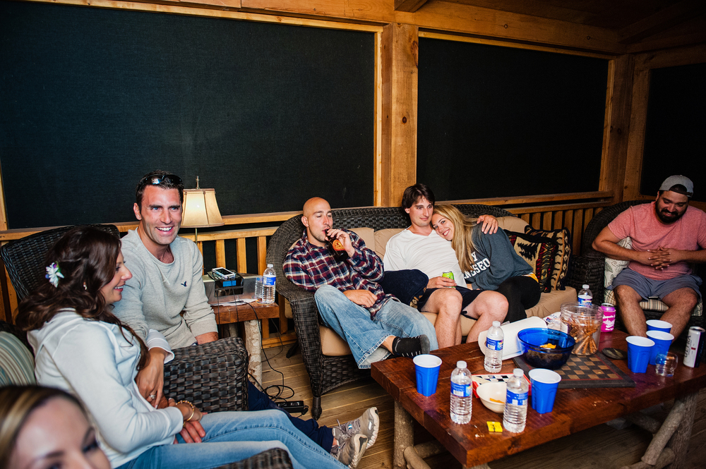 Adirondack Wedding After Party at Cabin