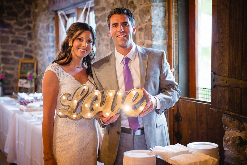 Bride and Groom Love Sign