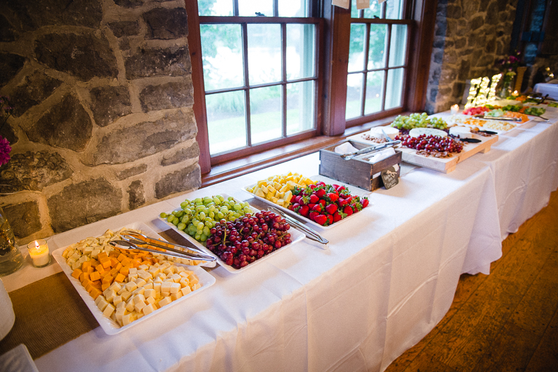Wedding Reception Party Fruits & Cheese