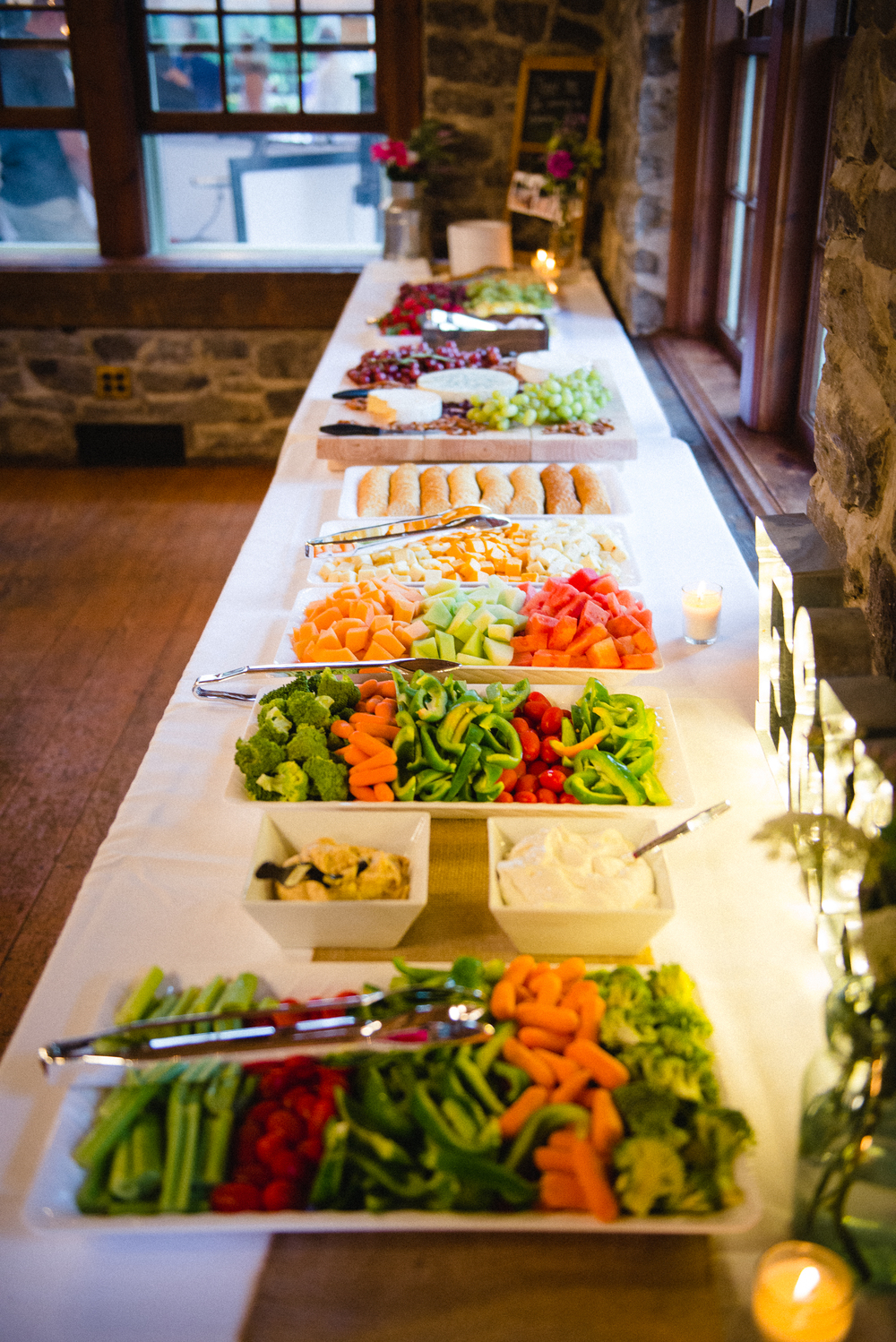 Wedding Reception Fruit and Vegetable Table