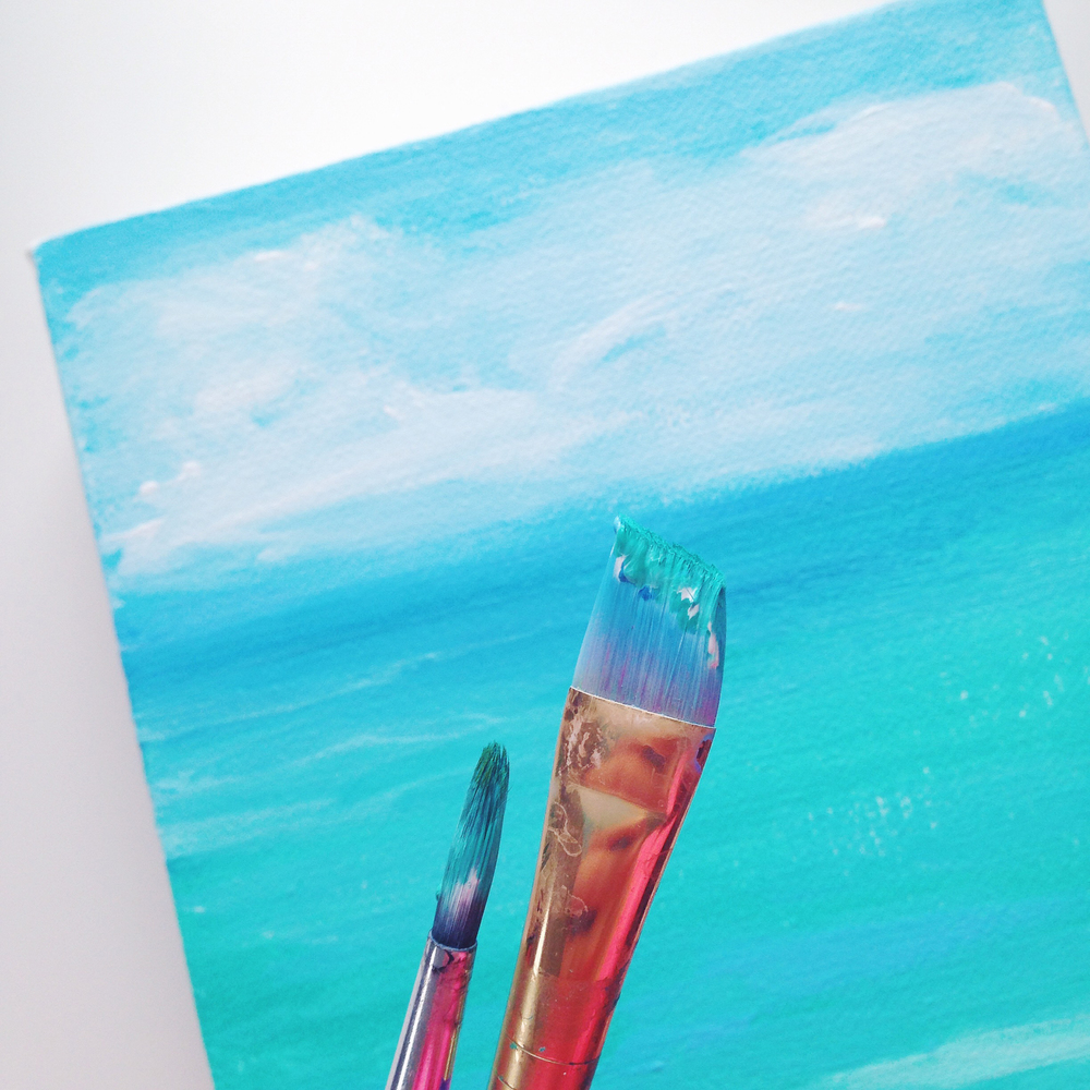 Acrylic Painting | Hawaiian Seascape | Hello Monday Design