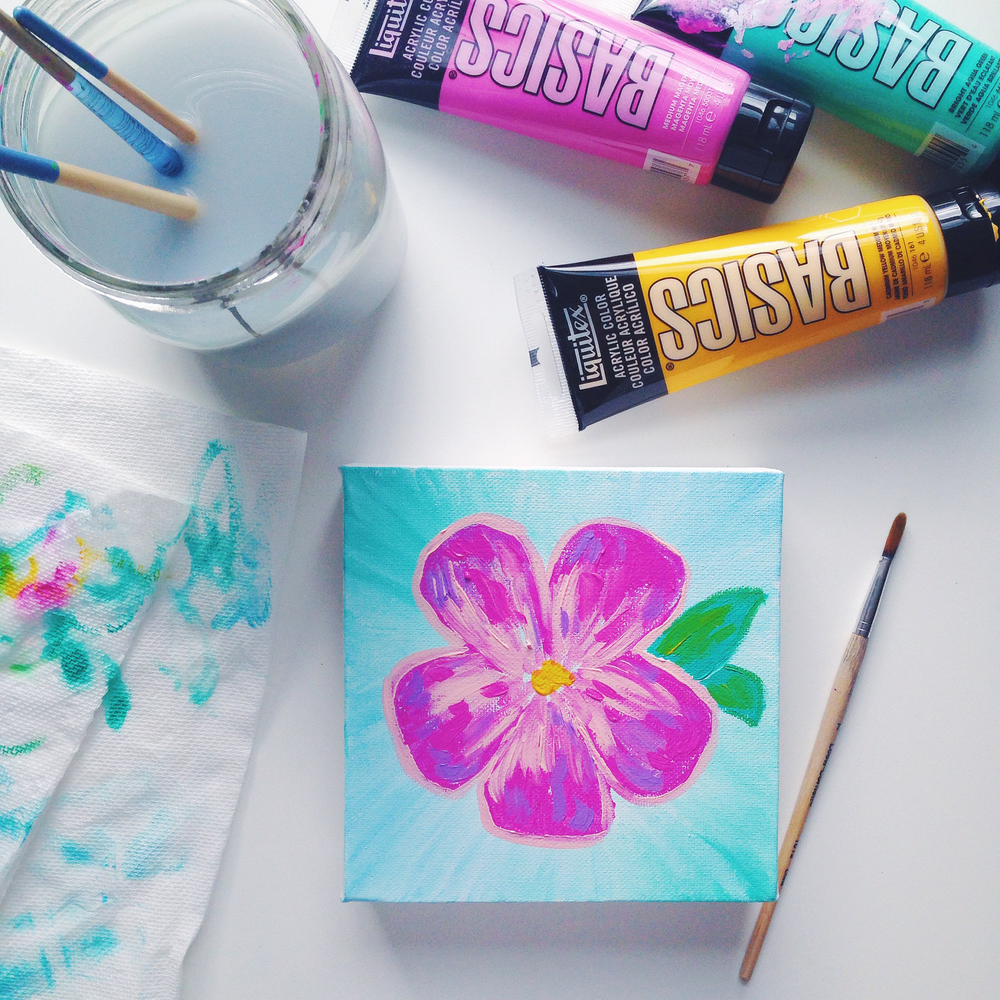 Acrylic Painting | Hawaiian Flower #2 | Hello Monday Design