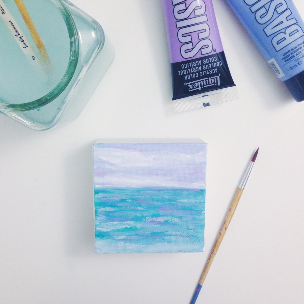 Lilac Seascape | Acrylic Painting | Hello Monday Design