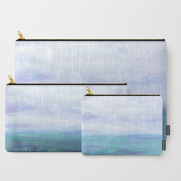 Lilac Skies & Turquoise Seascape | Set of 3 - Carry All Pouch
