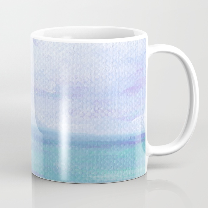 Lilac Skies & Turquoise Seascape Coffee Mug