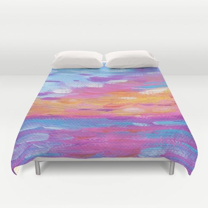 Hawaiian Neon Sunset Duvet Cover