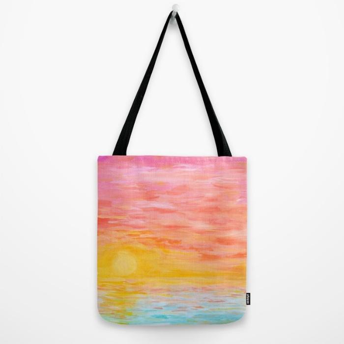 Sunset Love Tote Bag | Hello Monday Design
