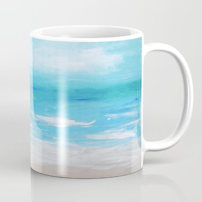 Hello Monday Sea Blue Coffee Mug