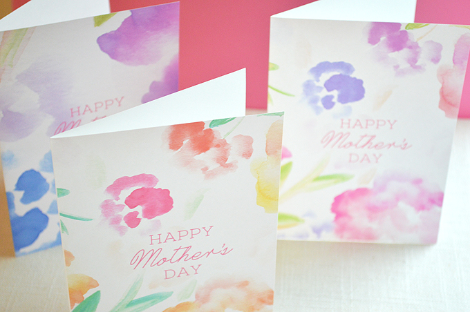 Free Watercolor Mother's Day Printable Cards | Hello Monday Design
