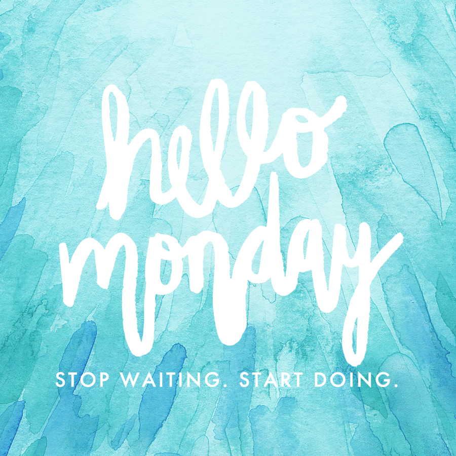 Hello Monday - Stop waiting. Start doing. | Watercolor handlettering Quote by Hello Monday Design.