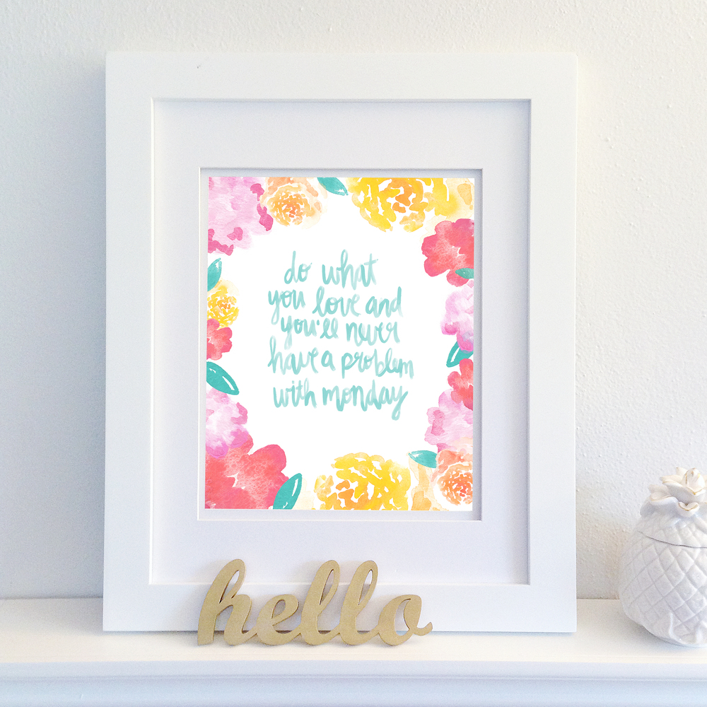 "FREE 8""x10"" PRINTABLE QUOTE (4 colors available) 