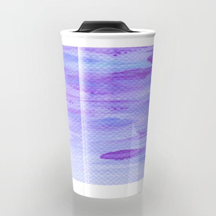 Lilac Seascape Travel Mug