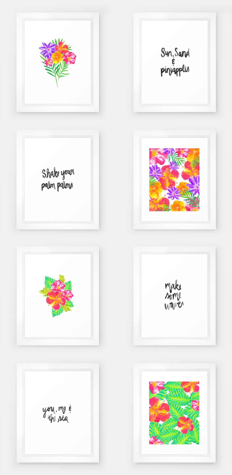 2016 Summer Collection | Watercolor Prints | Hello Monday Design