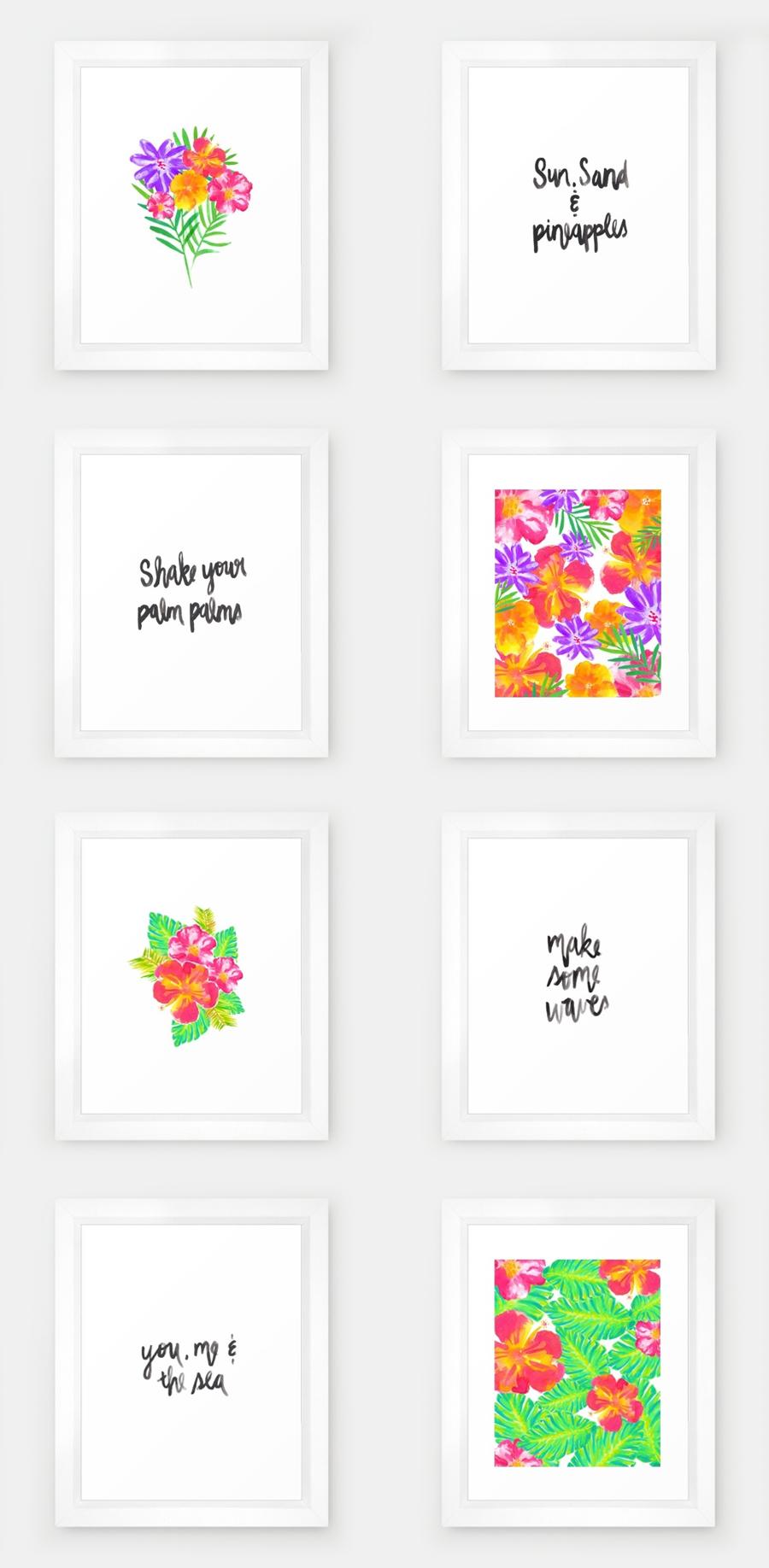 2016 Summer Collection | Watercolor Prints | Hello Monday Design