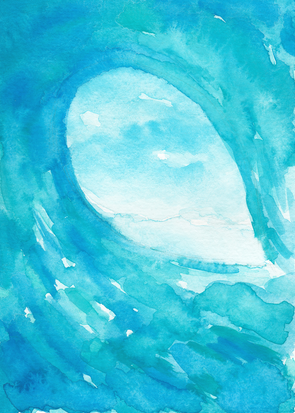 Watercolor Wave by Kristen Laczi of Hello Monday Design