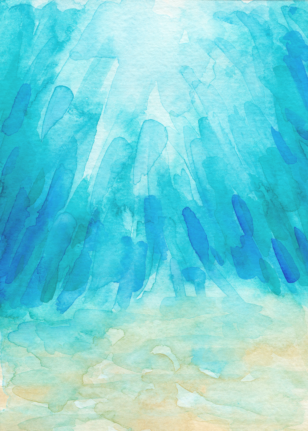 Under The Sea | Original Watercolor Painting by Kristen Laczi of Hello Monday Design