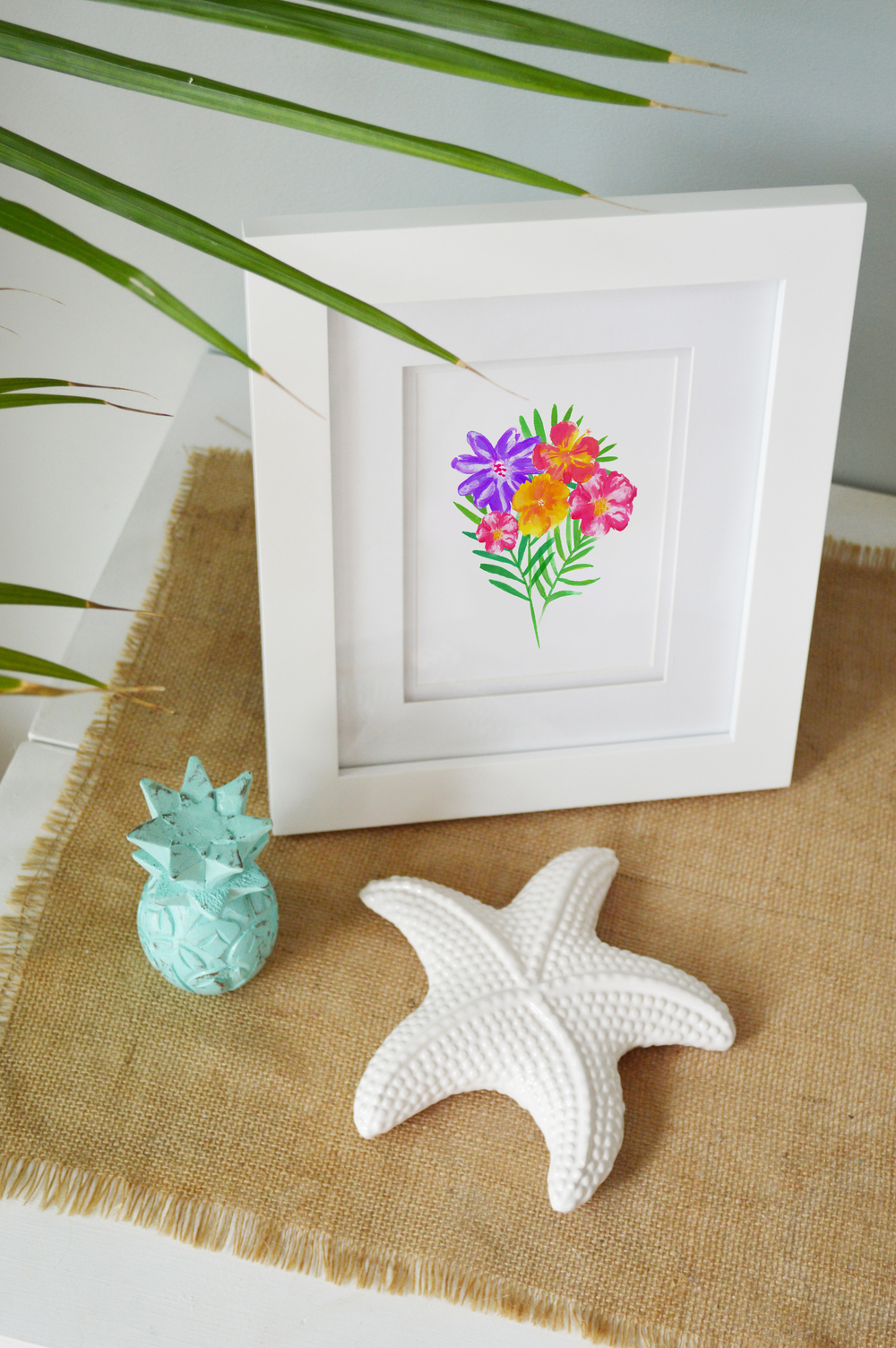Hello Monday Summer 2016 Collection Launched | Watercolor Flowers & Palm Leafs | Tropical Art