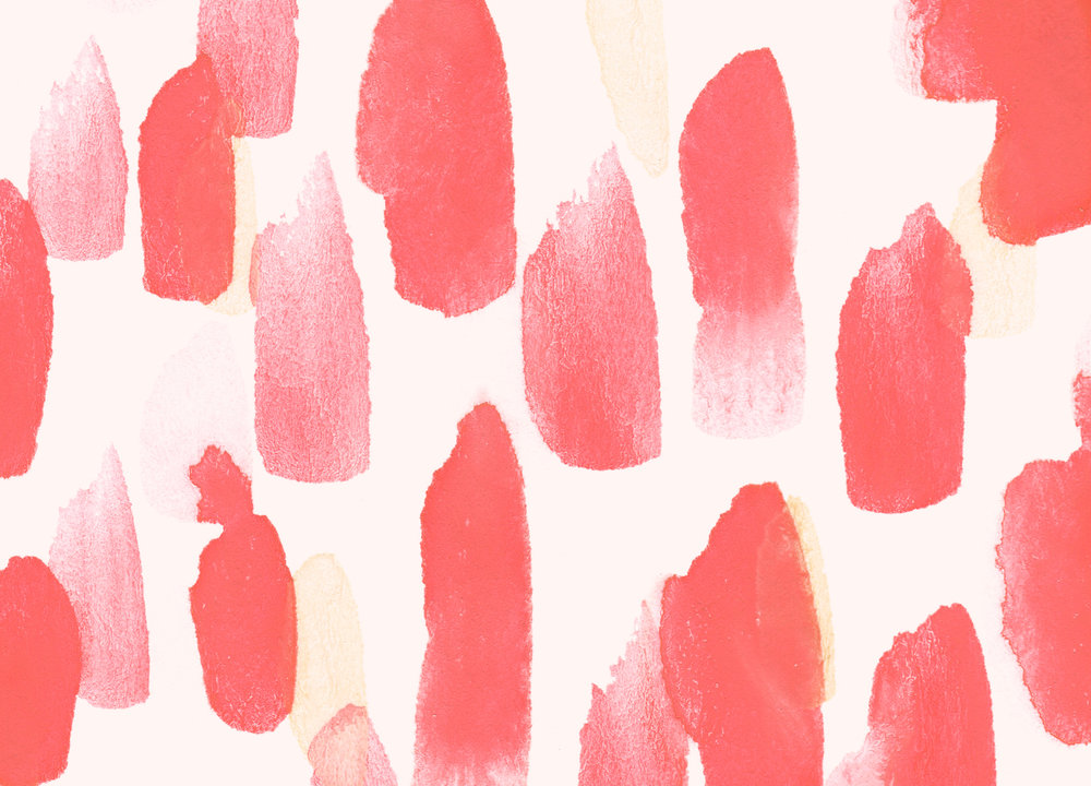 Red Desktop Wallpaper Download | Valentines Day | Hello Monday Design | Watercolor Abstract