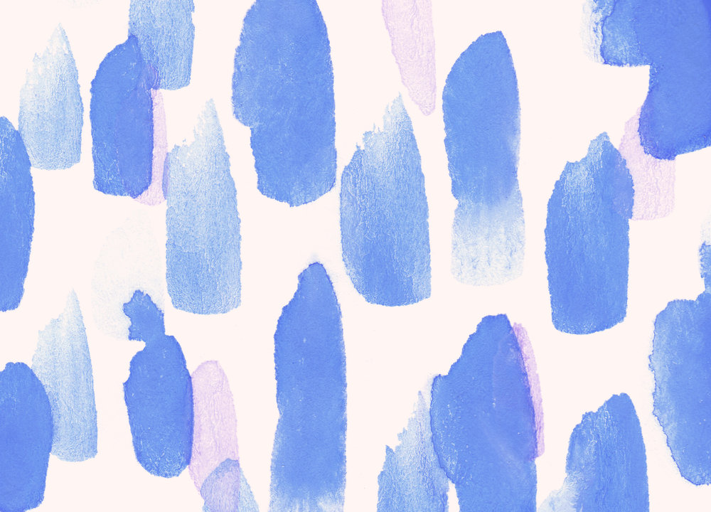 Blue Desktop Wallpaper Download | Valentines Day | Hello Monday Design | Watercolor Abstract