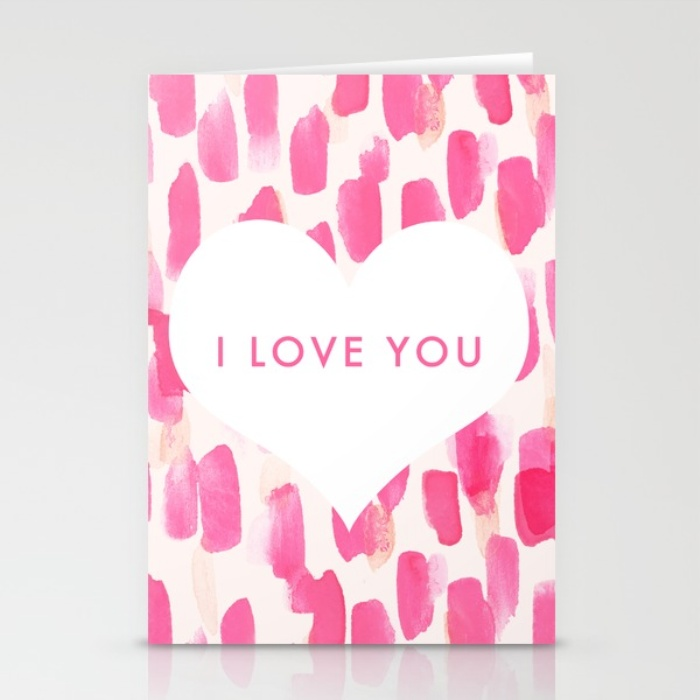 Pink I Love You Valentines Day Card