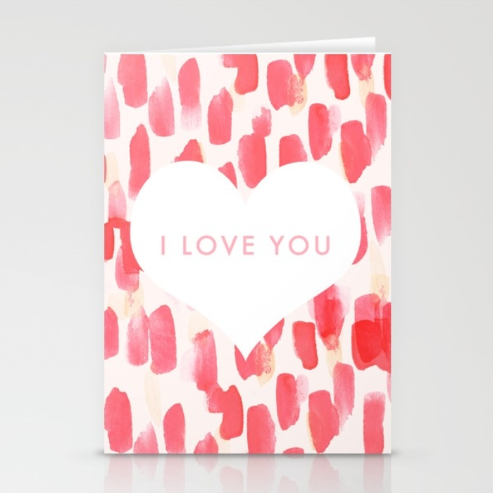 Red I Love You Valentines Day Card
