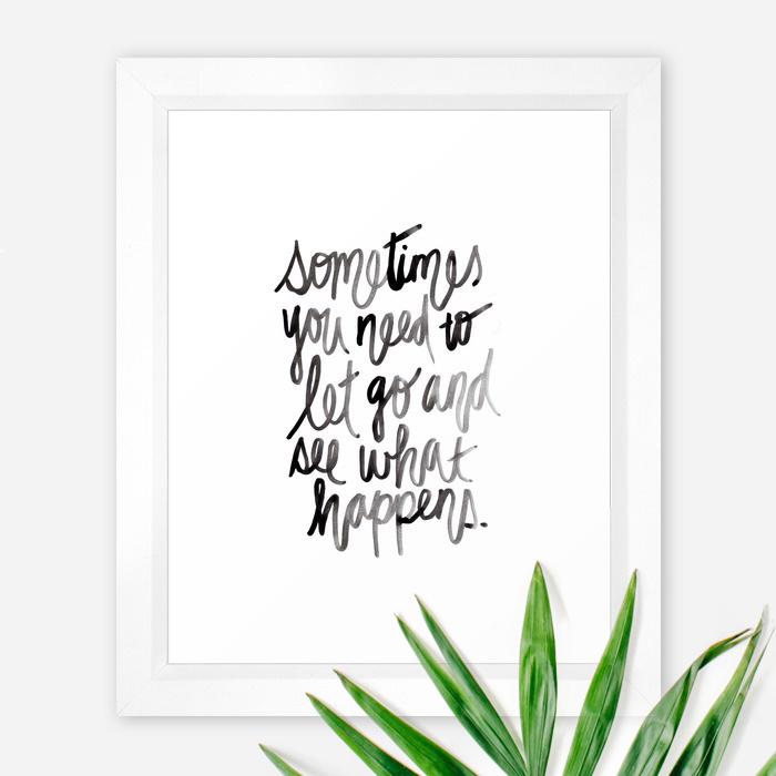 Kristen Laczi Lettering Let Go Art Print
