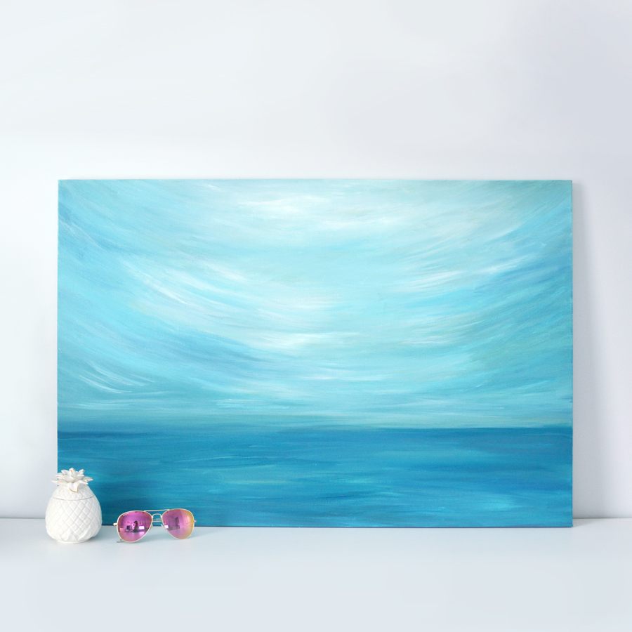 Kristen Laczi Original Seascape Painting Moody Skies