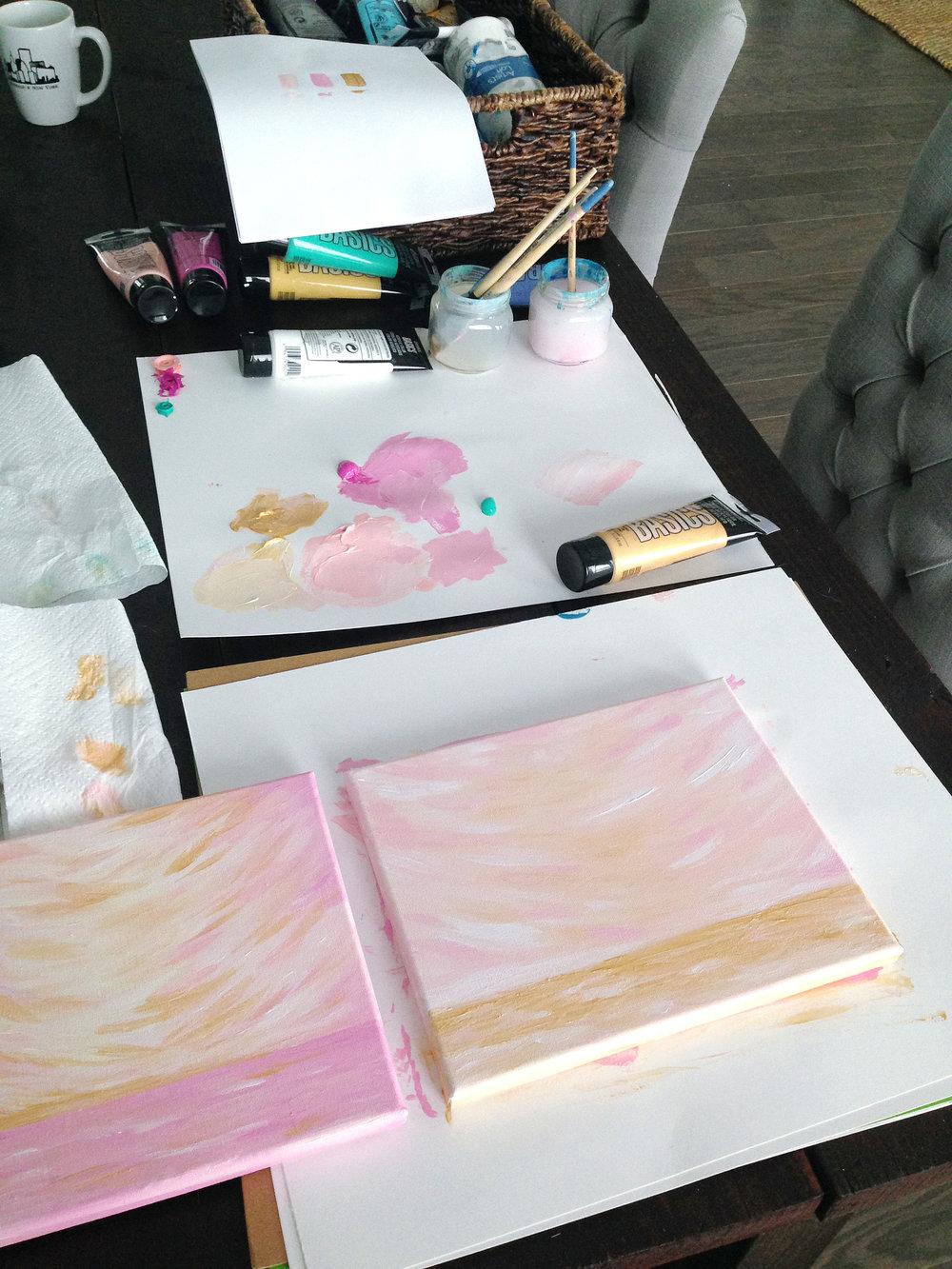 Kristen Laczi Golden Hour Series Work In Progress