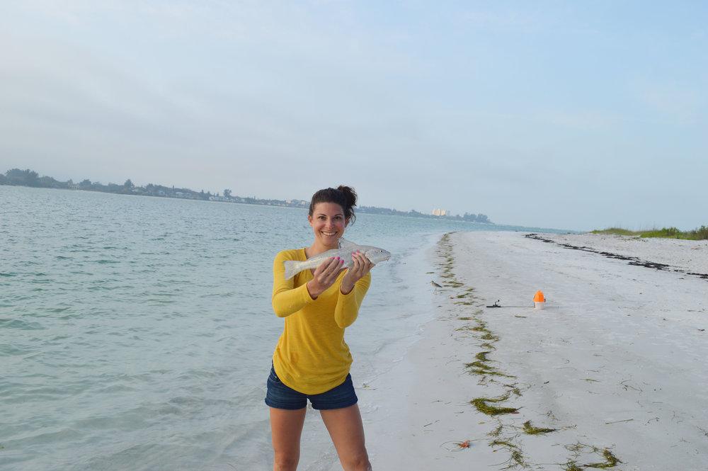 Lido Key Sarasota Florida Fishing Kristen Laczi
