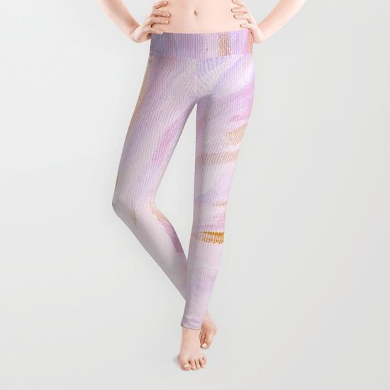 Purple Seascape Golden Hour Leggings Society6 Kristen Laczi