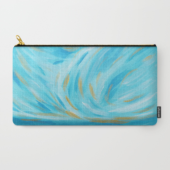 Golden Hour Turquoise Gold Clutch Society6 Kristen Laczi