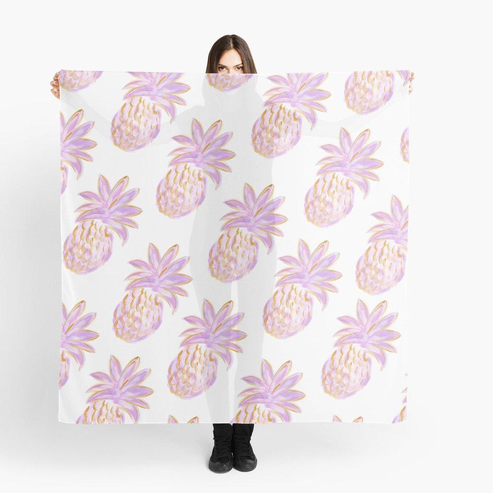 Golden Hour Womens Scarf Purple Pineapple Redbubble Kristen Laczi