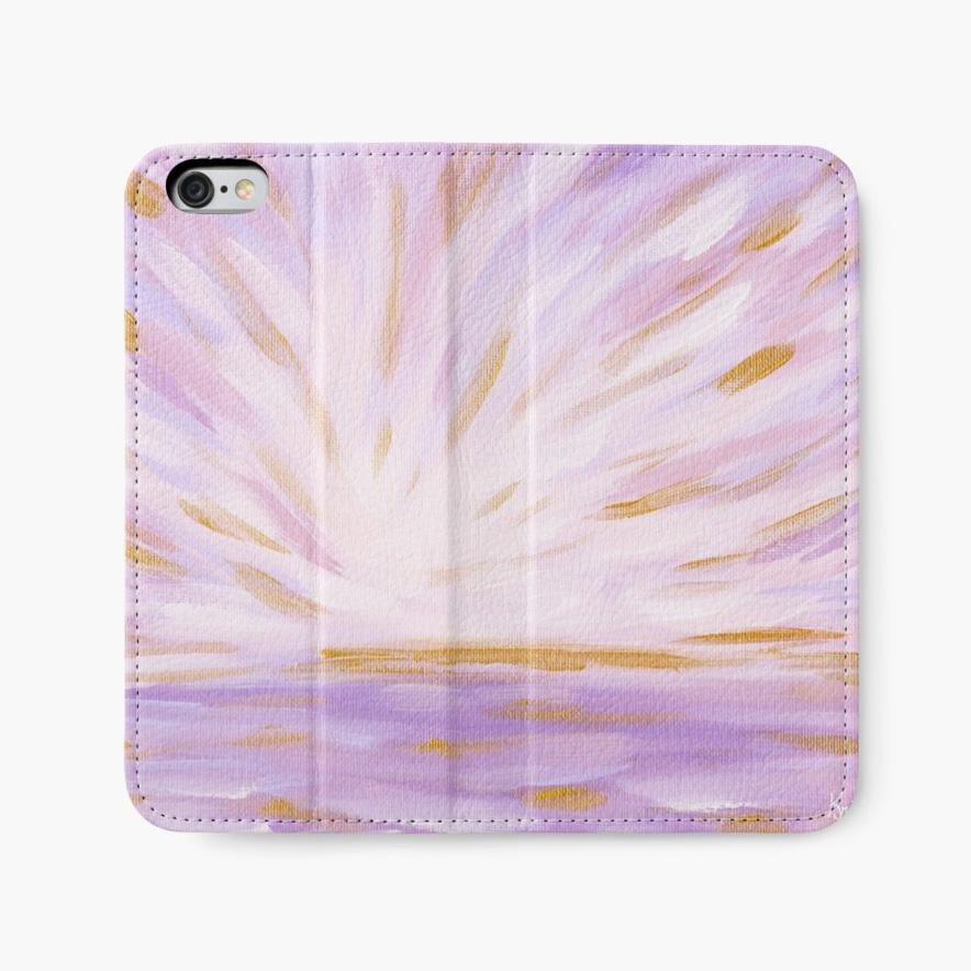Golden Hour Purple Gold Seascape iPhone Wallet Redbubble Kristen Laczi