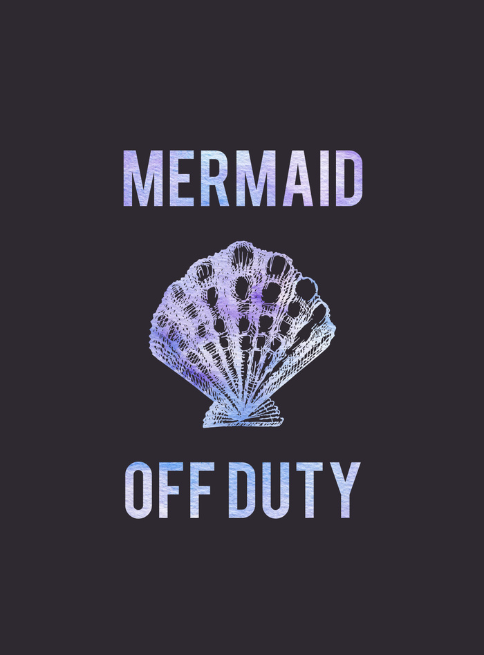 Kristen Laczi Mermaid Off Duty Art Print