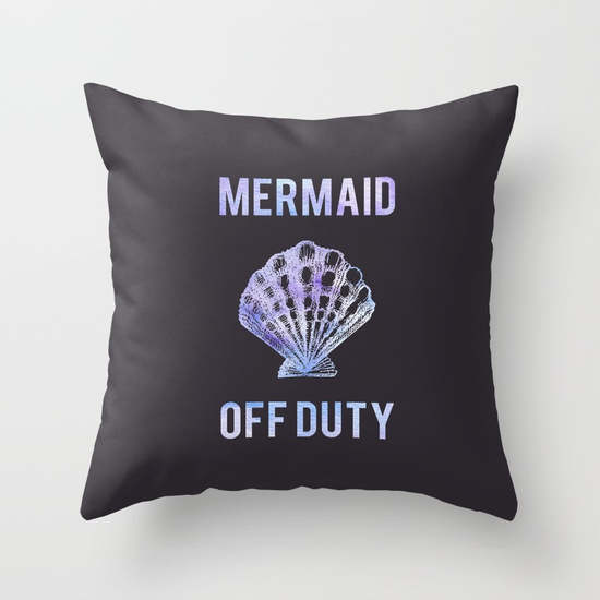 Kristen Laczi Mermaid Off Duty Throw Pillow