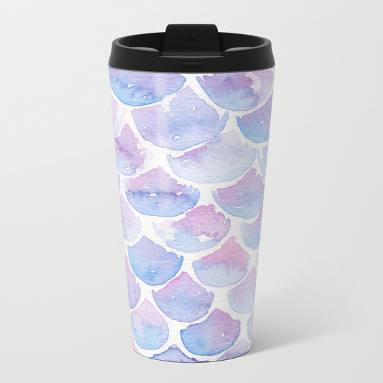 Kristen Laczi Mermaid Scales Travel Mug