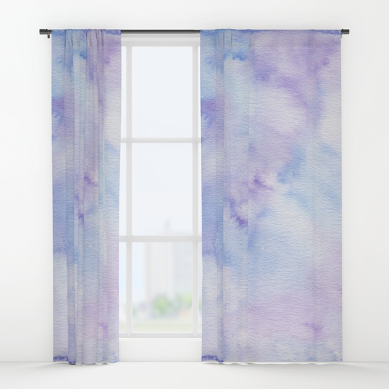 Kristen Laczi Purple Blue Ombre Window Curtains