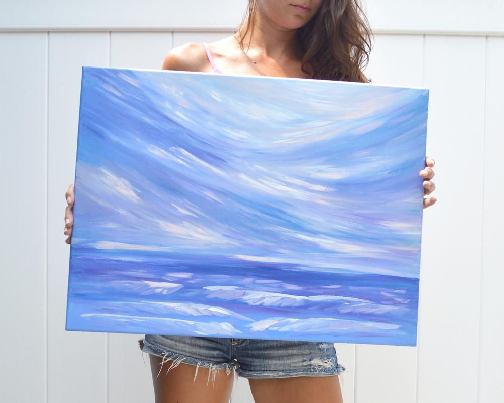 Life is Swell | Original Acrylic Seascape by Kristen Laczi